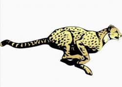 Cheetah clipart fast