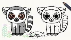 Lemur clipart drawing