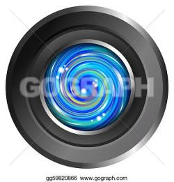 Lens clipart abstract