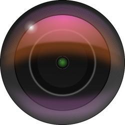 Lens clipart vector