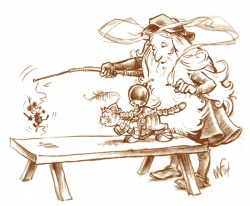 Leonardo Da Vinci clipart Michelangelo
