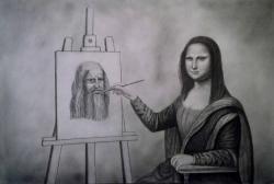 Leonardo Da Vinci clipart Mona Lisa