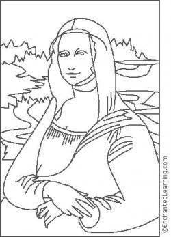 Mona Lisa clipart sketch leonardo da vinci