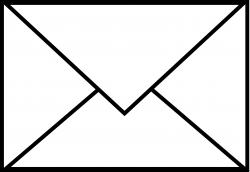 Message clipart black and white