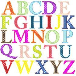 Lettering clipart abc