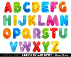 Lettering clipart colorful