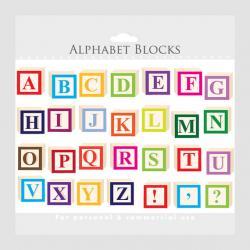Letter clipart alphabet block