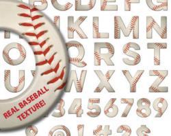 Letter clipart baseball