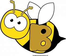 Letter clipart bee