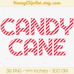 Candy Cane clipart alphabet