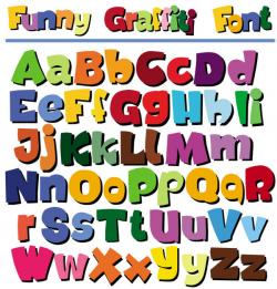 Typeface clipart english alphabet