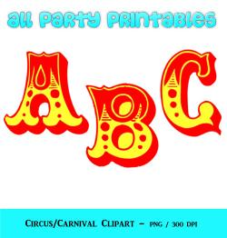 Letter clipart circus