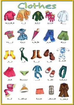 Letter clipart clothes