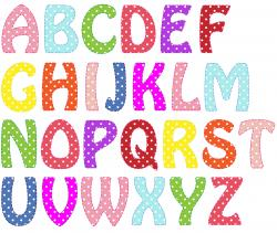 Letter clipart colored