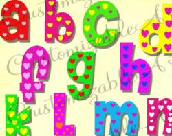 Lettering clipart cute