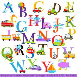 Lettering clipart english alphabet