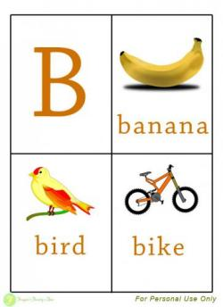 Letter clipart flashcard