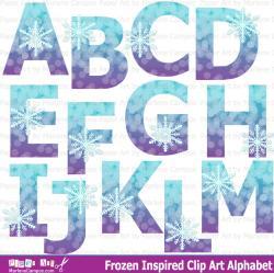 Letter clipart frozen