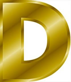 Letter clipart gold