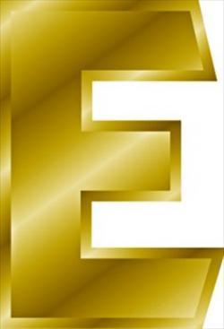 Letter clipart golden