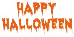 Text clipart halloween