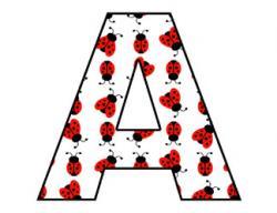 Letter clipart ladybug