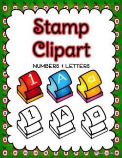 Letter clipart letter stamp