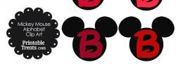 Mickey Mouse clipart alphabet