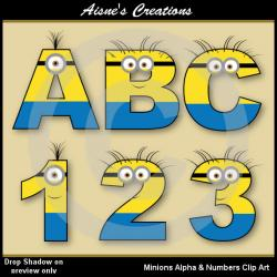 Number clipart minion