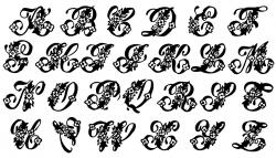 Lettering clipart fancy