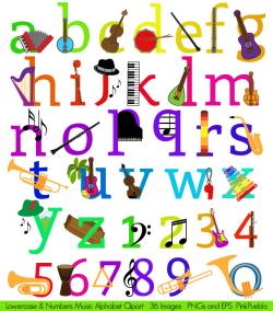 Letter clipart musical