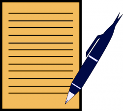 Paper clipart writing paper