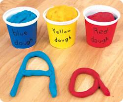 Letter clipart play dough