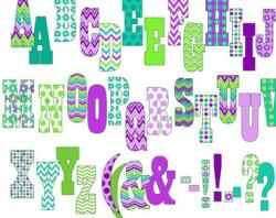 Lettering clipart printable
