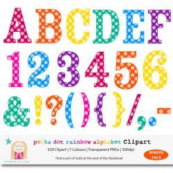 Letter clipart rainbow