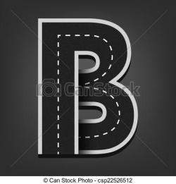 Letter clipart road