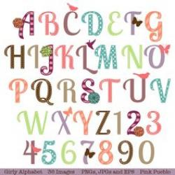 Lettering clipart girly