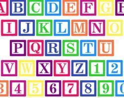 Typeface clipart alphabet block