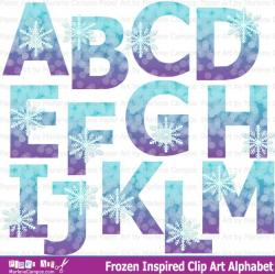 Letter clipart snowflake