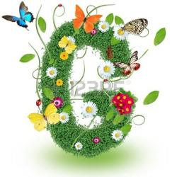 Letter clipart spring