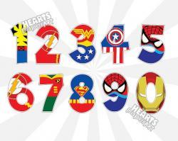 Letter clipart superhero