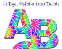 Letter clipart tie dye