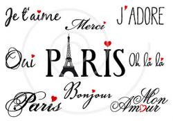 France clipart french word