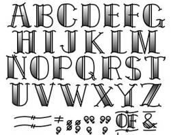 Typeface clipart lettering