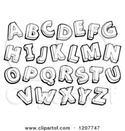 Lettering clipart black and white