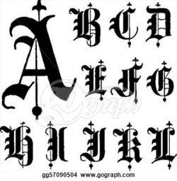 Typeface clipart gothic