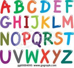 Lettering clipart capital letter