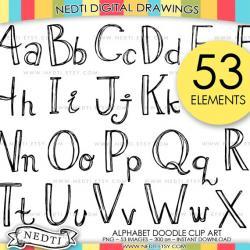 Lettering clipart doodle