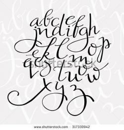 Lettering clipart elegant