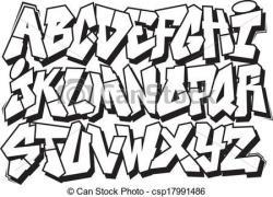 Drawn word graffito font